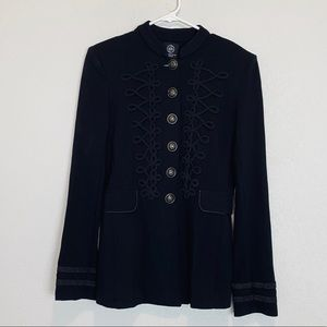 Boom Boom Jeans Military Style Embroidered Jacket